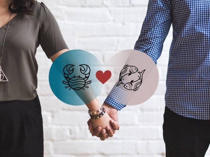التوافق بين برج السرطان والحوت في الحب والعلاقة والجنس