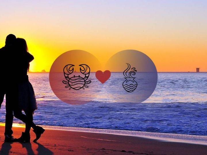 التوافق بين برج السرطان وبرج الدلو في الحب والعلاقة والجنس