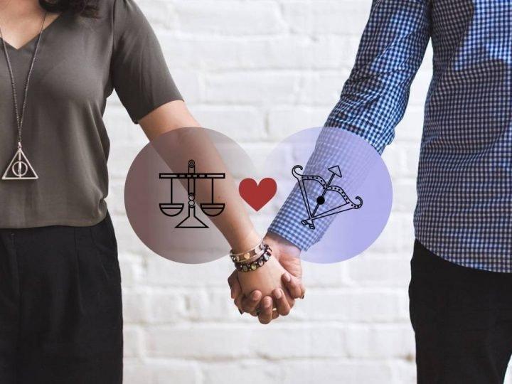 الميزان والقوس التوافق في الحب والزواج والعلاقة والجنس